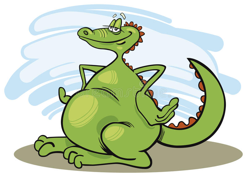 Download Cheerful dragon stock vector. Image of dragon, chinese - 10862393