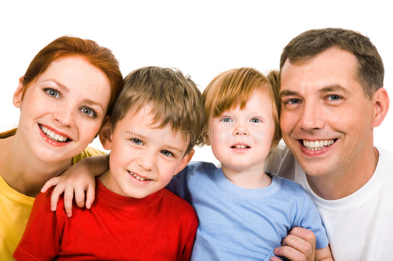 Download Cheerful family stock photo. Image of parent, looking - 10409306