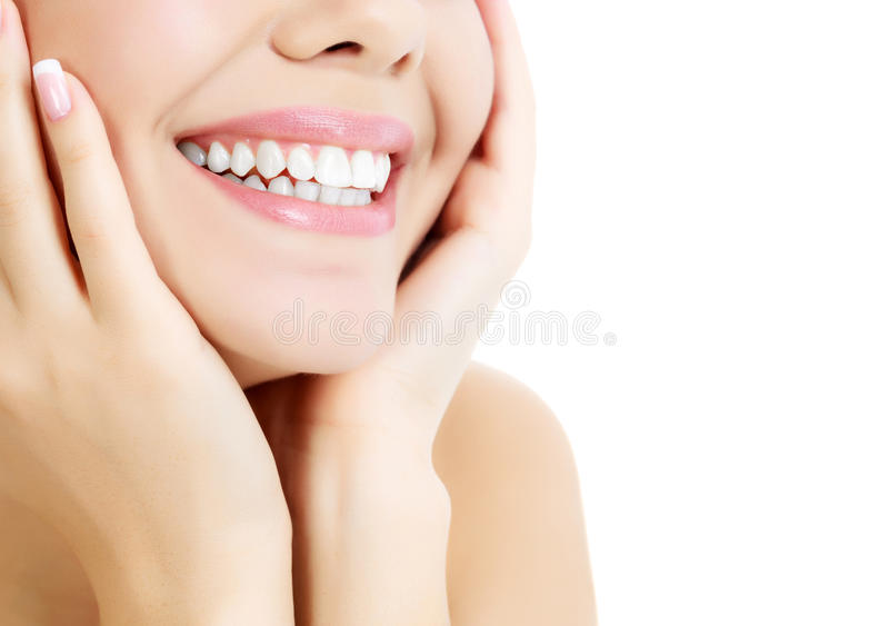 Cheerful female with fresh clear skin royalty free stock photography
