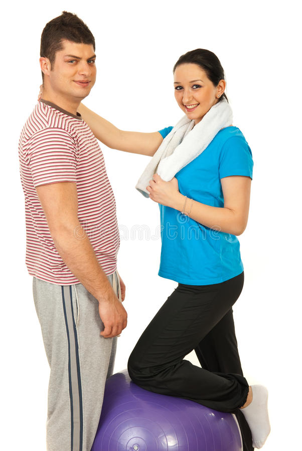 Download Cheerful fitness couple stock photo. Image of people - 24196140