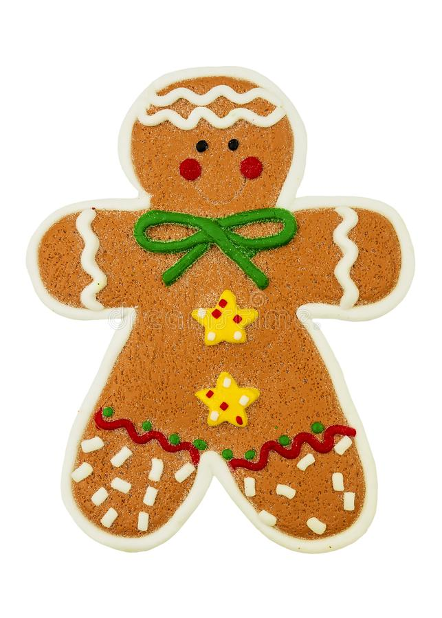 Cheerful and funny Christmas Gingerbread Man.  royalty free stock image