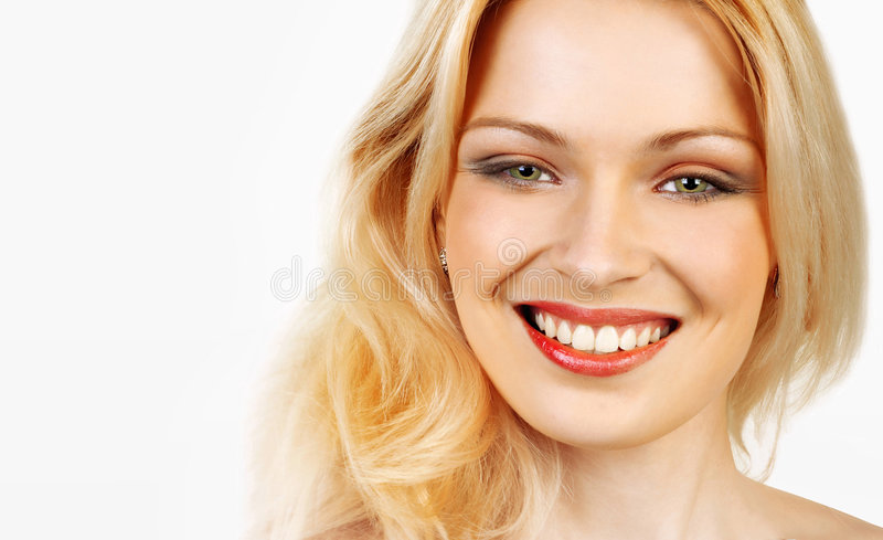 Cheerful girl. stock photo
