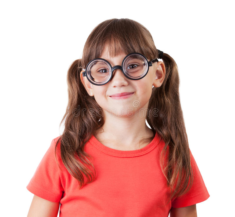 Download Cheerful girl with glasses stock photo. Image of eyes - 27680362