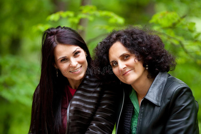 Cheerful Girlfriends Outdoor Stock Image