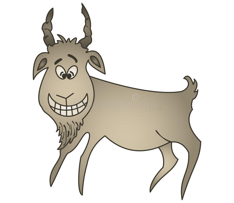 Download Cheerful goat stock vector. Illustration of horned, goat - 14376218
