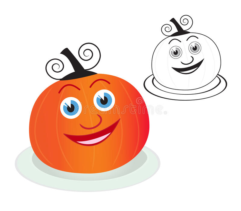 Cheerful halloween pumpkin stock photography