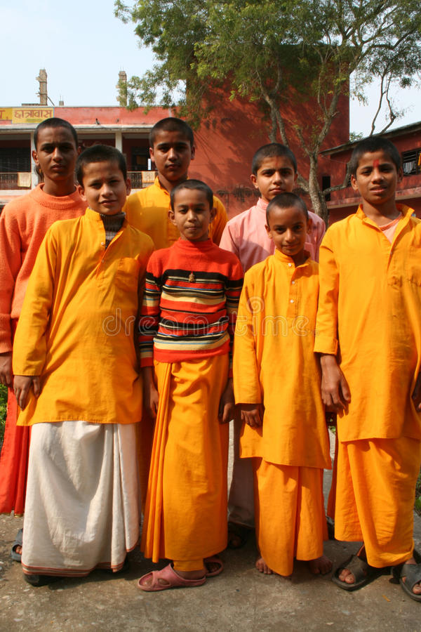 Cheerful Hindu students in a group. royalty free stock photo