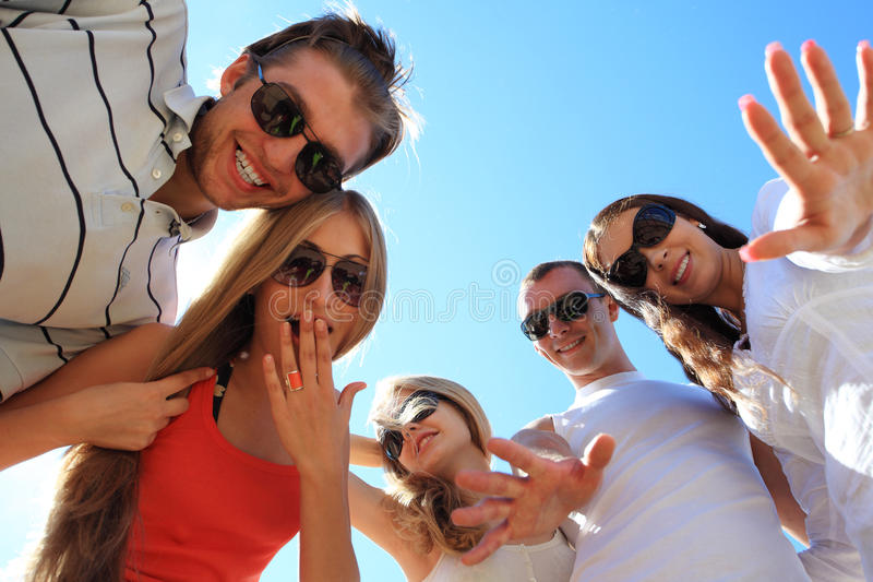 Download Cheerful holidays stock image. Image of adult, five, group - 9969551