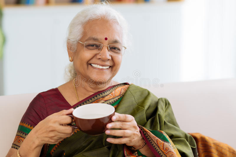 Cheerful Indian lady stock photography