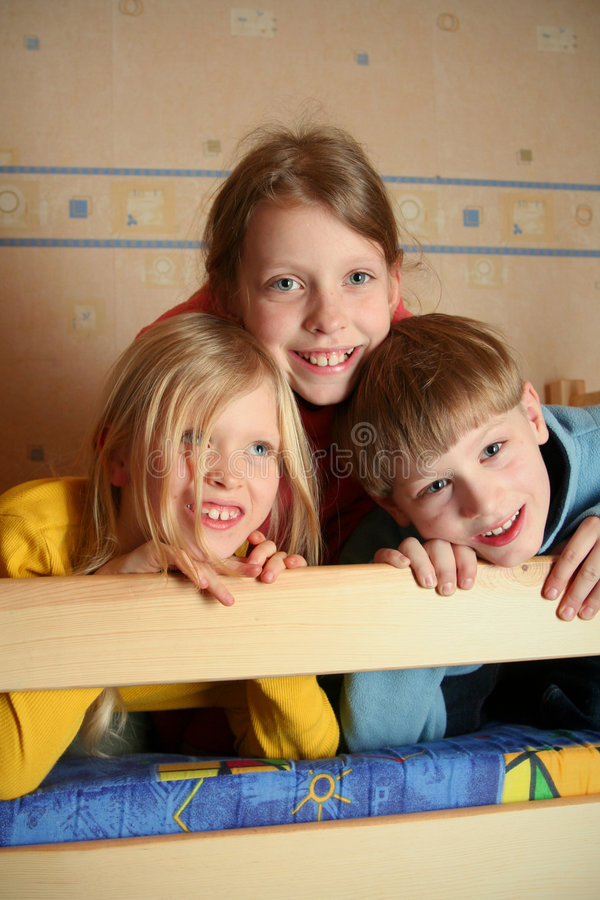 Cheerful kids stock images