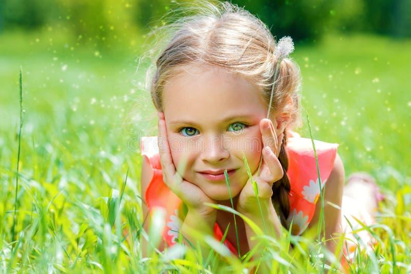 Carefree childhood years royalty free stock photo