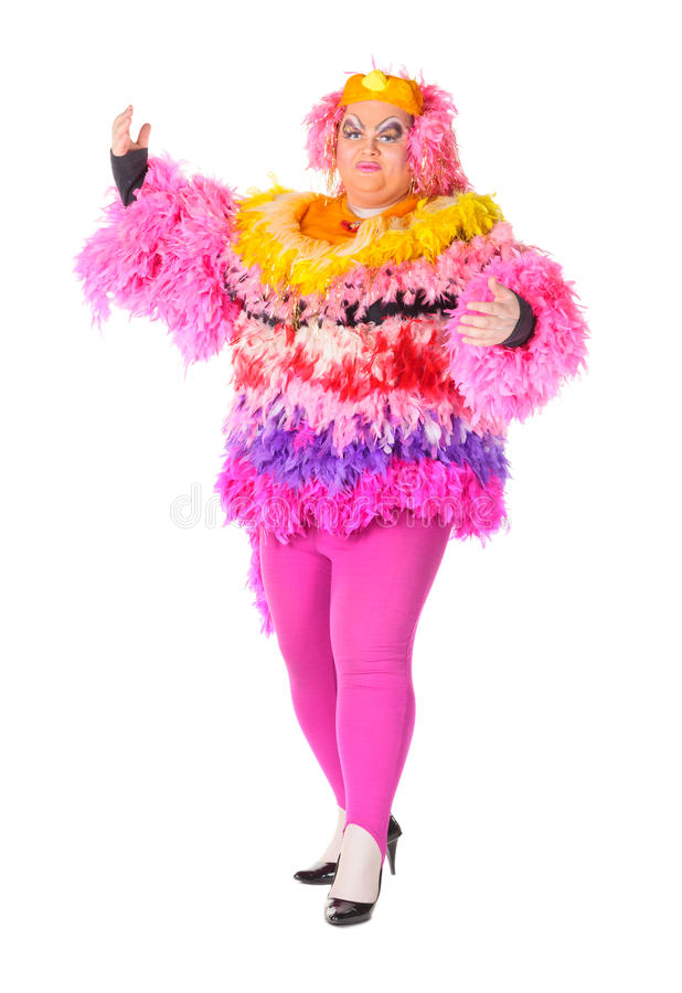 Download Cheerful Man, Drag Queen, In A Female Suit Stock Photo - Image: 29076752
