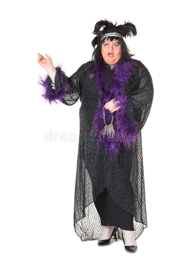 Download Cheerful Man, Drag Queen, In A Female Suit Stock Photo - Image: 29076798