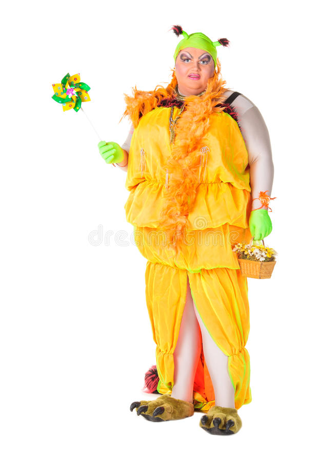 Download Cheerful Man, Drag Queen, In A Female Suit Stock Image - Image: 29076827