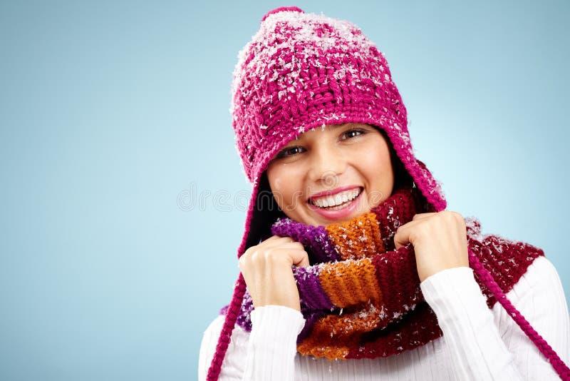 Cheerful miss stock photo