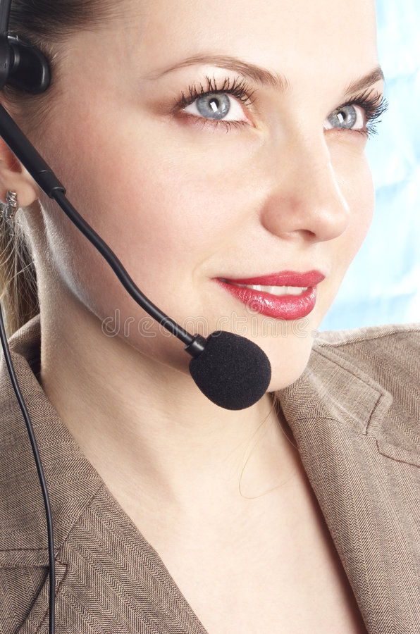 Cheerful the operator royalty free stock image