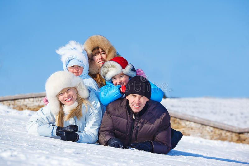 Download Cheerful parents and kids stock image. Image of family - 23457737