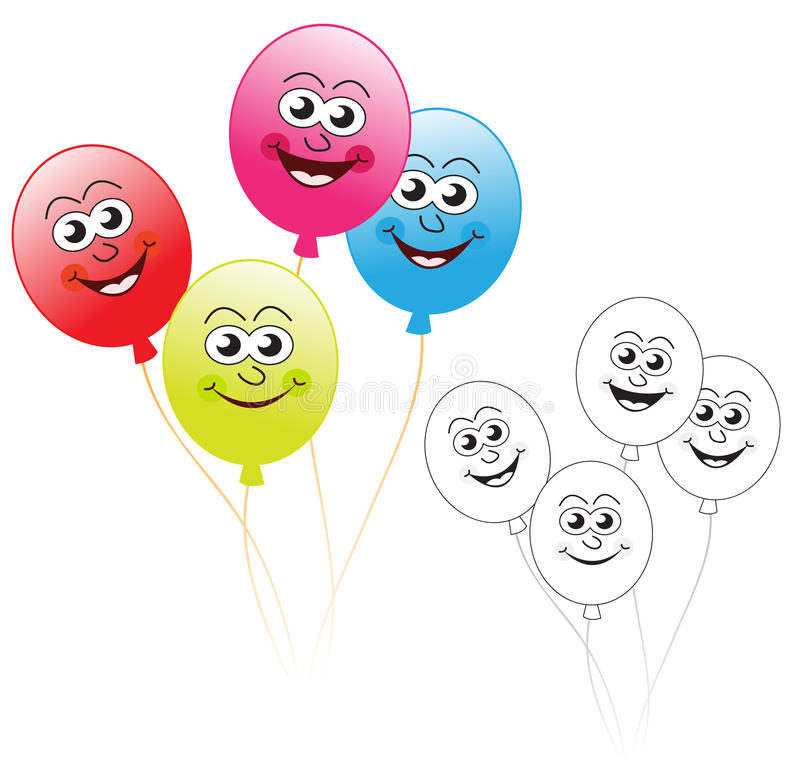 Cheerful party balloons royalty free stock photo