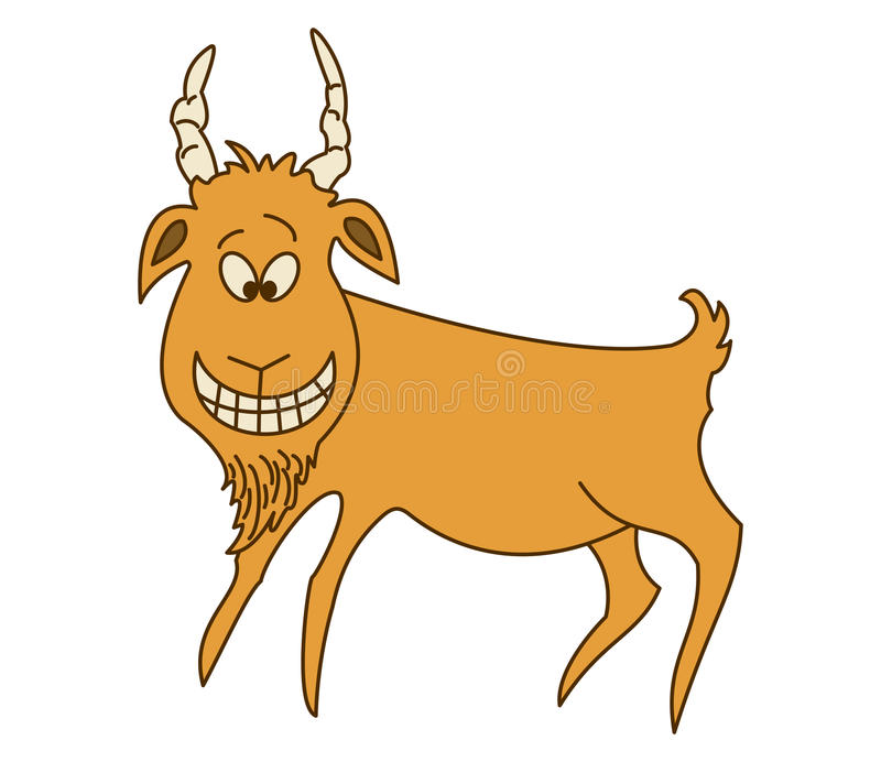 Cheerful red goat stock illustration