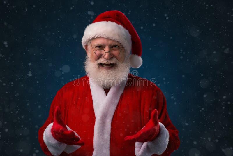 Cheerful Santa Claus royalty free stock photos