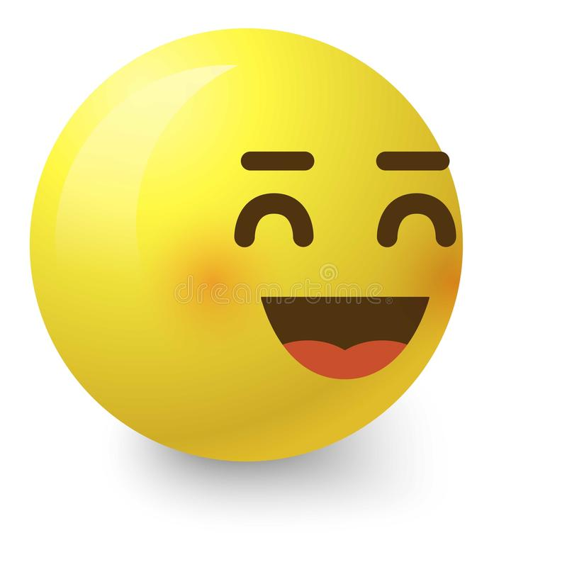 Cheerful smiley icon, cartoon style. Cheerful smiley icon. Cartoon illustration of cheerful smiley vector icon for web stock illustration