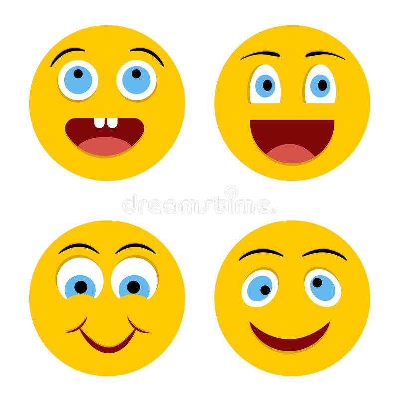Cheerful smiley stock photo