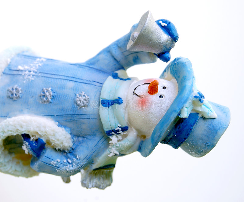 Cheerful Snowman stock photos