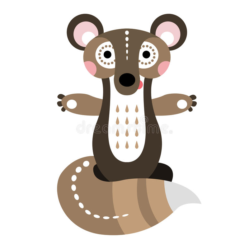 A cheerful squirrel. Cartoon character for animation or children vector illustration