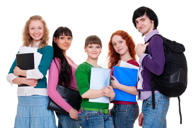 Download Cheerful students stock photo. Image of girl, college - 14248866
