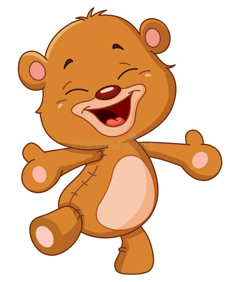 Cheerful teddy bear stock illustration