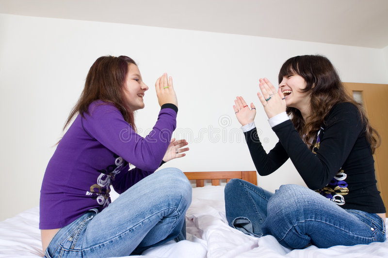 Download Cheerful Teen Girls stock photo. Image of happy, friends - 7638672