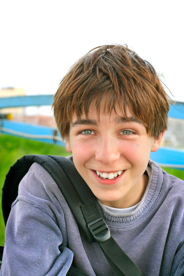 Cheerful teenager stock images