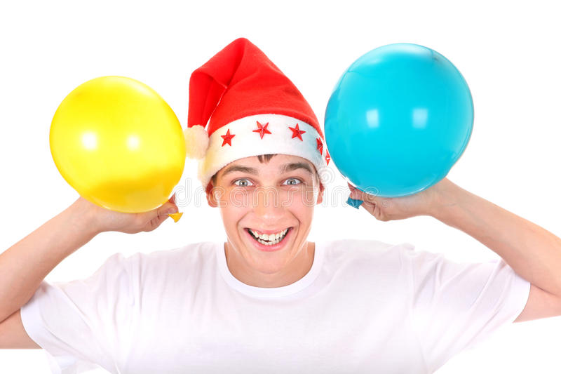Download Cheerful Teenager With Balloons Royalty Free Stock Image - Image: 34325146