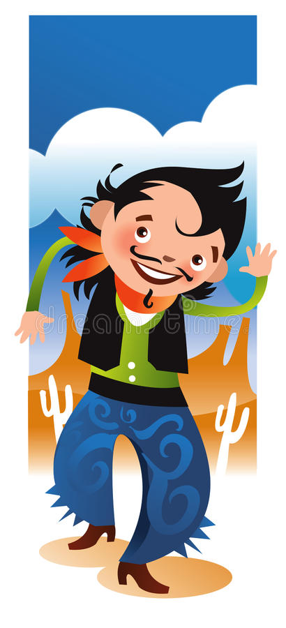 Cheerful Western stock images