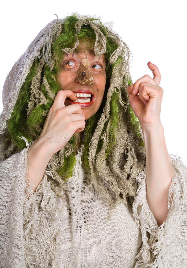 Cheerful witch royalty free stock photography
