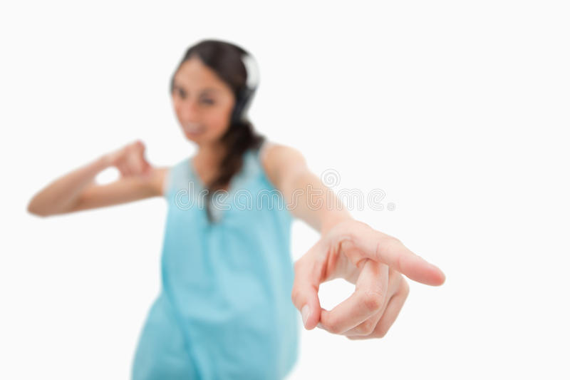Download Cheerful Woman Dancing While Listening To Music Stock Image - Image: 22662715