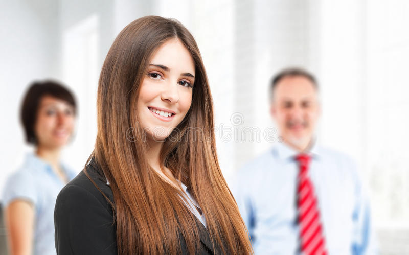 Cheerful woman portrait royalty free stock images