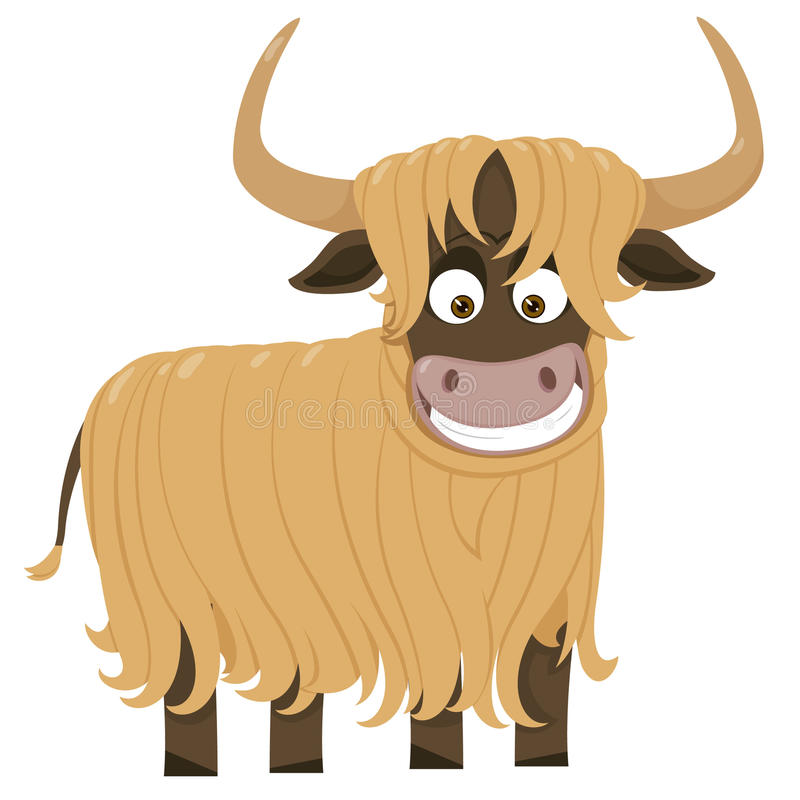 Cheerful yak stock illustration