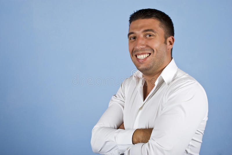 Download Cheerful Young Business Man Stock Photo - Image: 10496036