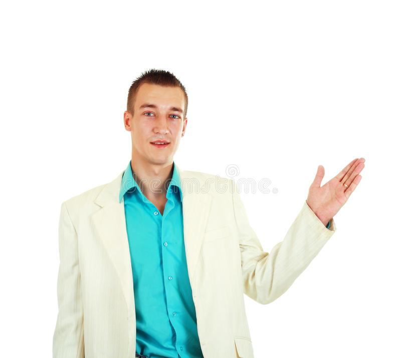 Cheerful young businessman royalty free stock image