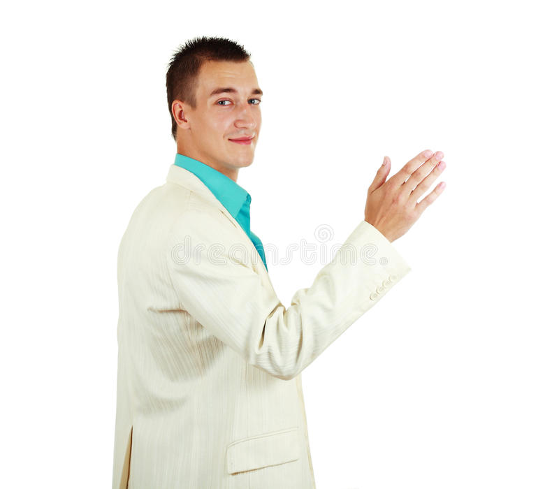 Cheerful young businessman stock photos