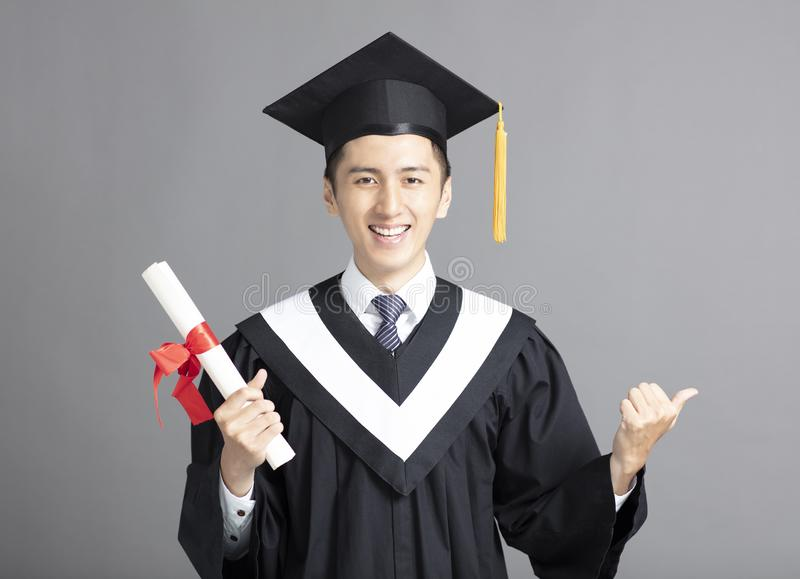 young graduated student man isolated royalty free stock photos