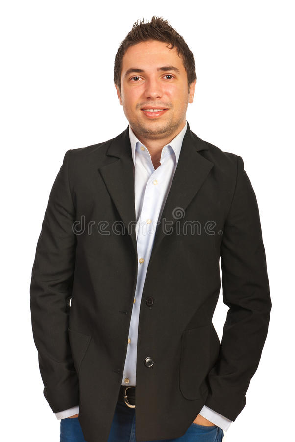 Cheerful Young Manager Stock Images