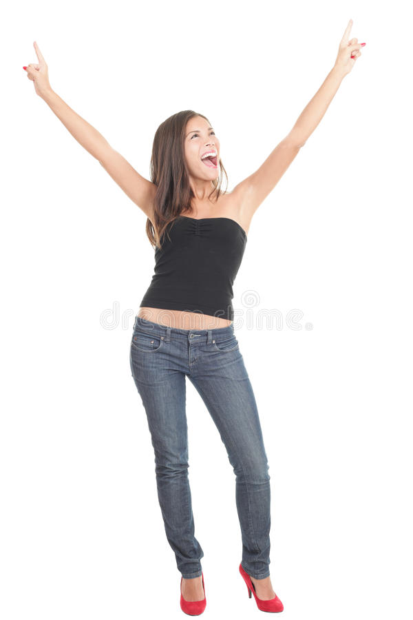 Cheerful Young Woman Standing Royalty Free Stock Photography