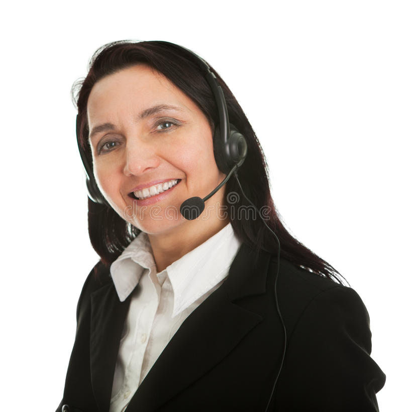 Cheerfull call center operator