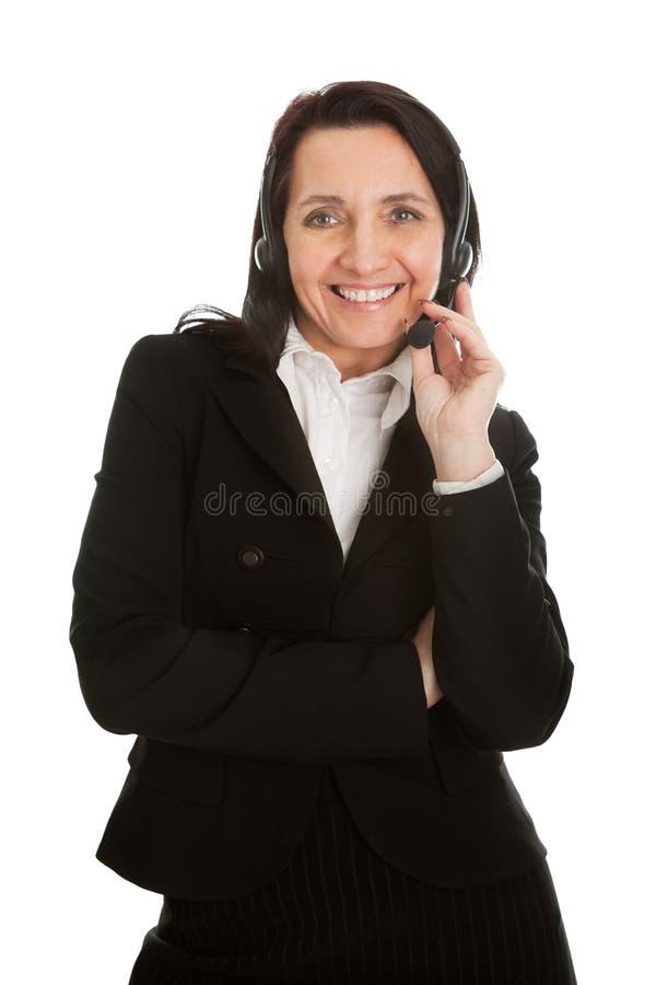 Download Cheerfull Call Center Operator Stock Photo - Image: 18600408