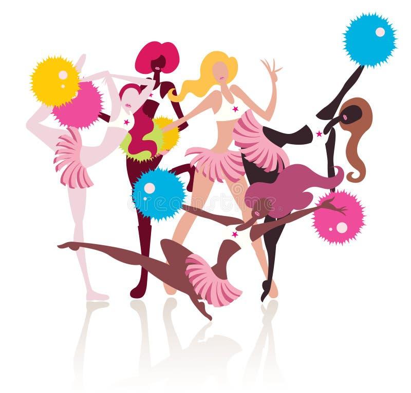 Download Cheergirls stock vector. Image of dancing, beautiful - 11353330