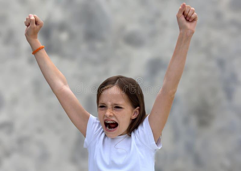 cheering imagen de archivo libre de regalías