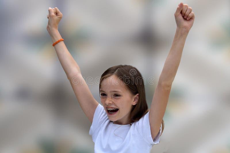 cheering fotografía de archivo libre de regalías