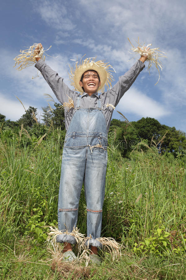 Download Cheering boss scarecrow stock photo. Image of summer - 17951818